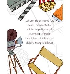 Hand drawn cinema card vector image