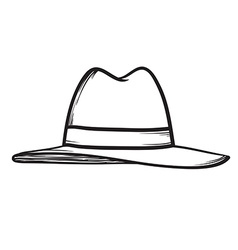 Hat icon hand drawn vector image