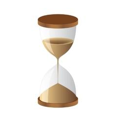 Hourglass sand clock vector image