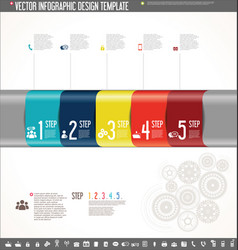 Infographic design template colorful design 8 vector