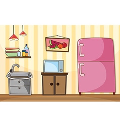 Kitchen room with full furnished vector