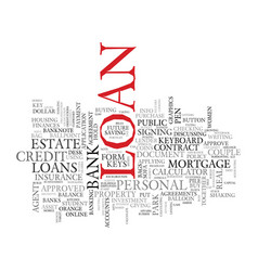 loans word cloud concept vector image