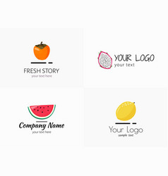 Logo collection for food company simple vector