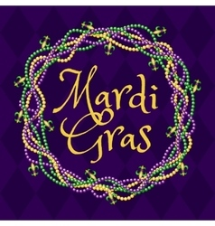 Mardy gras purple background vector