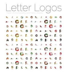 Mega set of various letter logos vector image