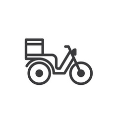 motorbike delivery icon vector image