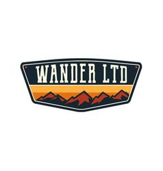 Mountain outdoor adventure logo vector