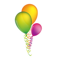 multicolored balloons with serpentine design vector image