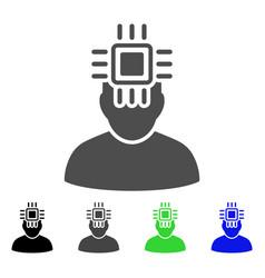 neuro interface flat icon vector image