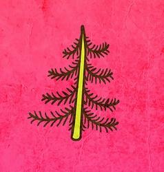 Pine Tree Cartoon vector image