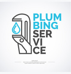 plumbing repair banner stylish poster and vector image