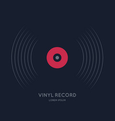 Poster of the vinyl record music on vector