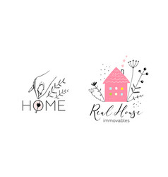 real estate logotype design vector image