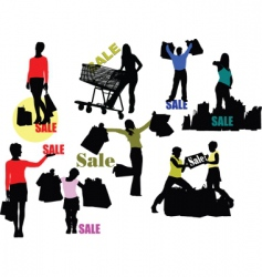 Retail shoppers vector