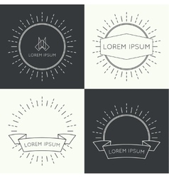 Set of vintage banners vector