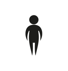 Simple black single man icon symbol stick figure vector