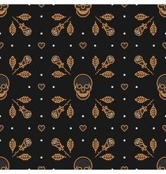 Skull seamless pattern Art Deco vector image