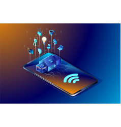 smart home technology isometric vector image