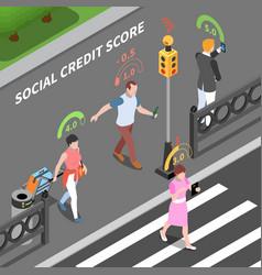 social credit score composition vector image