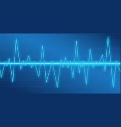 sound waves oscillating glow neon light spectrum vector image