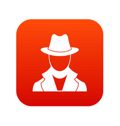 spy icon digital red vector image