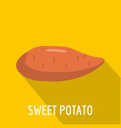 Sweet potato icon flat style vector