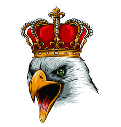 the logo queen eagles cute crown print vector image