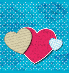 three different sizes hearts composition vector image