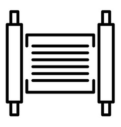 Torah papyrus icon outline style vector
