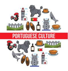 Travel to portugal portuguese culture and symbols vector