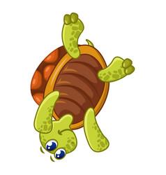 Turtle on head icon cartoon style vector