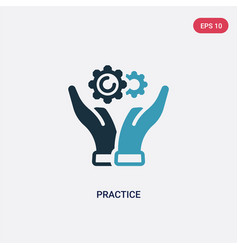 Two color practice icon from productivity concept vector