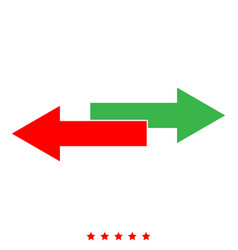Two side arrows icon color fill style vector