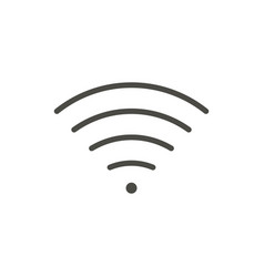 wifi outline icon wireless line symbol vector image