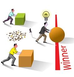 winner brain works vector image