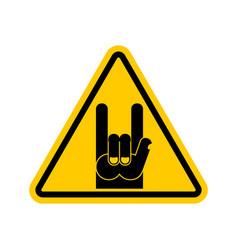 attention rock music warning rock hand symbol vector image vector image