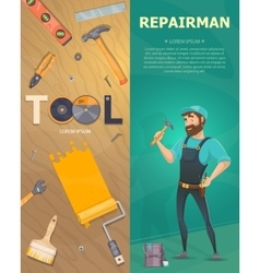 Colorful Technician Vertical Banners vector image vector image