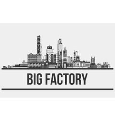 Contour of plant or factory manufactory or works vector image vector image