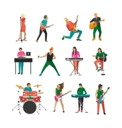 set of rock musicians and singers Music vector image vector image