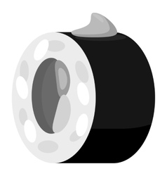 Sushi icon gray monochrome style vector image vector image