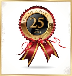 25 years anniversary label vector image