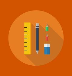 Education Flat Icon Stationary vector image