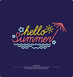 Emblem Hello summer vector image vector image