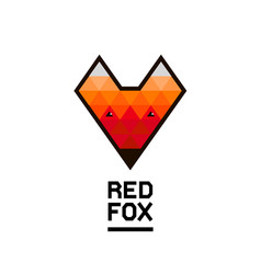 faceted geometric fox logo vector image vector image