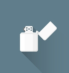 flat chromed petrol lighter icon vector image