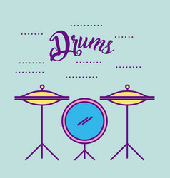 Musical concert drums vector