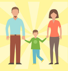 People happy family cartoon relationship vector