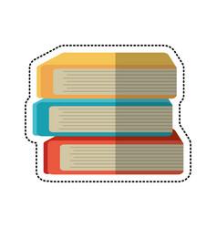 cartoon stack book school image vector image vector image