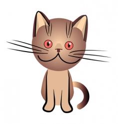 chocolate british cat vector image vector image