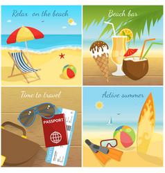 colorful summer vacation concept vector image vector image